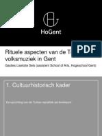 Rituele Aspecten Van de Turkse Volksmuziek in Gent (Presentatie)