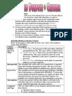 ePortfolio Criteria April 09