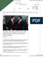 12/05/13 Cabildeo de Rodrigo Medina dio 10% más recursos a Nuevo León
