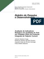 AVALIAÇÃO DE INDICADORES BIOLOGICOS DE QUALIDADE DO SOLO EM UNIDADES PILOTO DE PRODUÇAO INTEGRADA DE FEIJOEIRO COMUM