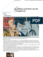 Relying on Algorithms and Bots Can Be Really, Really Dangerous - Wired Opinion - Wired