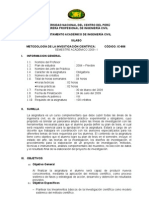 Sylabus Metodologia de La Investigacion