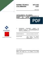 NTC 6767-1995. Determinación de dióxido de azufre en el aire.pdf