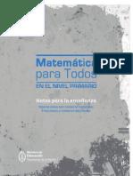 MATEMATICA PARA TODOS Notas Para La Ensenanza Operaciones Con Numeros Naturales Fracciones y Numeros Decimales