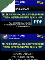 Materi sosialisasi SNMPTN-2013