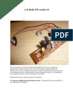 Mini Transmisor de Radio FM versión 1