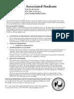 ASUN Senate Agenda for April 15, 2009 (correct)