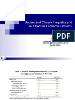 Is inequality bad for China's economic growth?