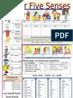 Five Senses Worksheet