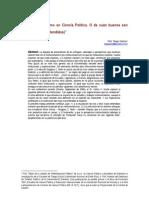 Institucionalismo en La Ciencia Politica