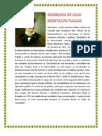 Biografia de Juan Montalvo Fiallos