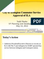 DART's City of Arlington Commuter Service Approval of ILA