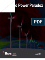 BENTEK Wind Power Paradox Reduced