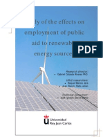 Study of the Effects on Employment of Public Aid to Renewable Energy Sources