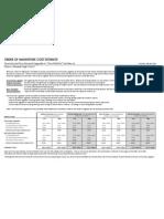 Summary of Estimates to Rehabilitate Alameda High School Building