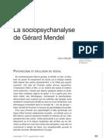 La Sociopsych-Analyse de g Mandel