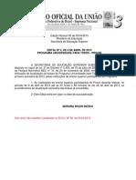 Edital Prouni Nr 2 2013 Atualizacao de Bolsas 1 2013