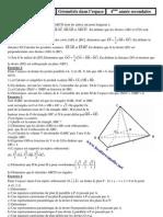 Géométrie dans l espace en 4A