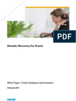 Disaster Recovery Para Oracle en SAp