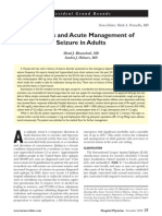 management of acute seizure in adult