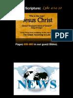 PDF Sermon Slides - The Gospel According to Jesus (Luke 4