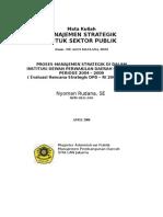 Evaluasi Renstra DPD  - Proses Manajemen Strategik  ( Short version )