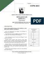 Soalan -Percubaan Penggal 2 STPM 2013 - Terengganu