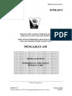 Skema -Percubaan Penggal 2 STPM 2013 - Terengganu