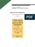 Samuel Ramos Hacia Un Nuevo Humanismo