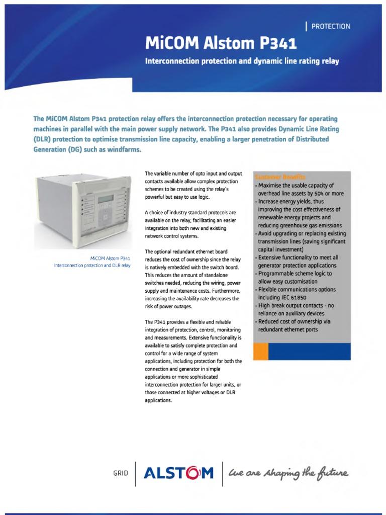 Micom P341 Relay Transformer Electric Cost