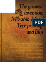 The greatest invention, movable metal type printing and jikji