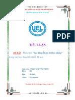 """Phân tích """"học thuyết giá trị lao động"""" trong các học thuyết kinh tế đã học.pdf"""