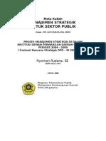 Evaluasi Renstra DPD-Proses Manajemen Strategik ( Long version )