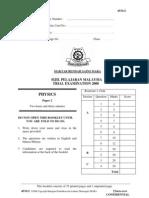 6496311 SPM Percubaan 2008 MRSM Physics Paper 2