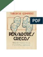 Gomperz, Theodor - Pensadores Griegos - Libro 1