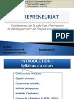 Cours d'Entrepreneuriat