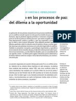 PD Justicia Transicional Ore Aguilar y Herbolzheimer 2007 La Justicia en Los Procesos de Paz PDF