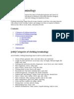 Cloting Terminology