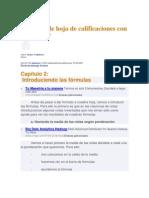 Creación de hoja de calificaciones con Excel 2007