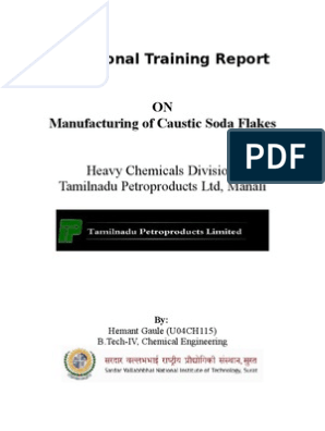 Industrial Manufacturing of Caustic Soda Flakes at Tamilnadu