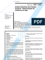 NBR 10636 - 1989 - Paredes Divisórias sem Função Estrutural