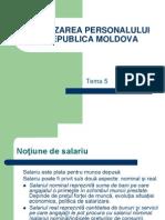 SALARIZAREA PERSONALULUI ÎN REPUBLICA MOLDOVA