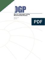 OGP 471 Underwater Cutting - Burning Report