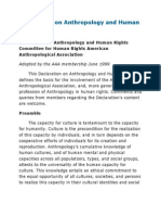 Declaration on Anthropology and Human Rights