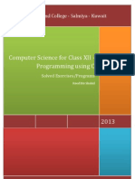 Computer Science for Class XII - Programming using C (Solved Exercises/Programs)