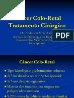 Câncer Colo-Retal TTO CIRURGICO