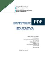 INVESTIGACION EDUCATIVA Cód 578