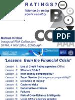 SFRA Risk Colloquium on CRAs