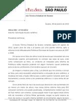 Oficio 001-2012 - Solicitação de Piso