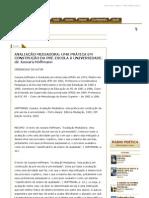 AVALIAÇÃO MEDIADORA_ UMA PRÁTICA EM CONSTRUÇÃO DA PRÉ-ESCOLA À UNIVERSIDADE